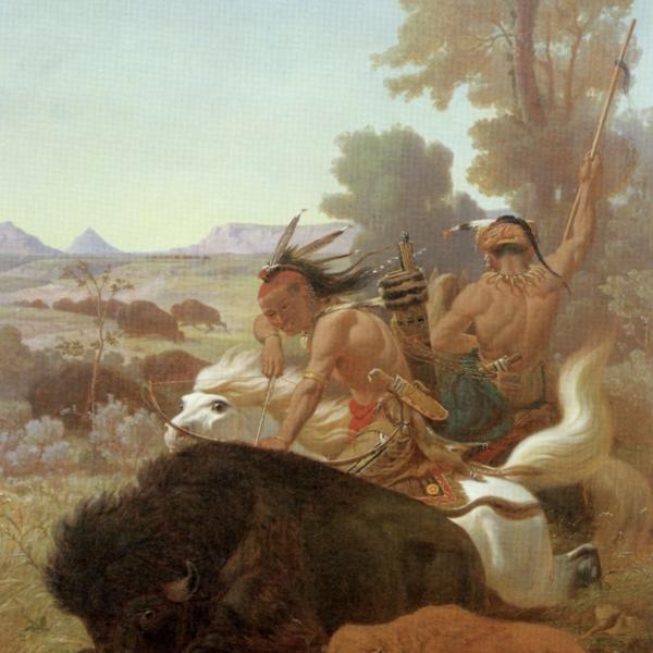 buffalo hunt print